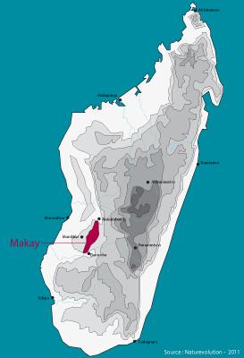 Carte Madagascar Dans Le Monde.Le Makay Naturevolution